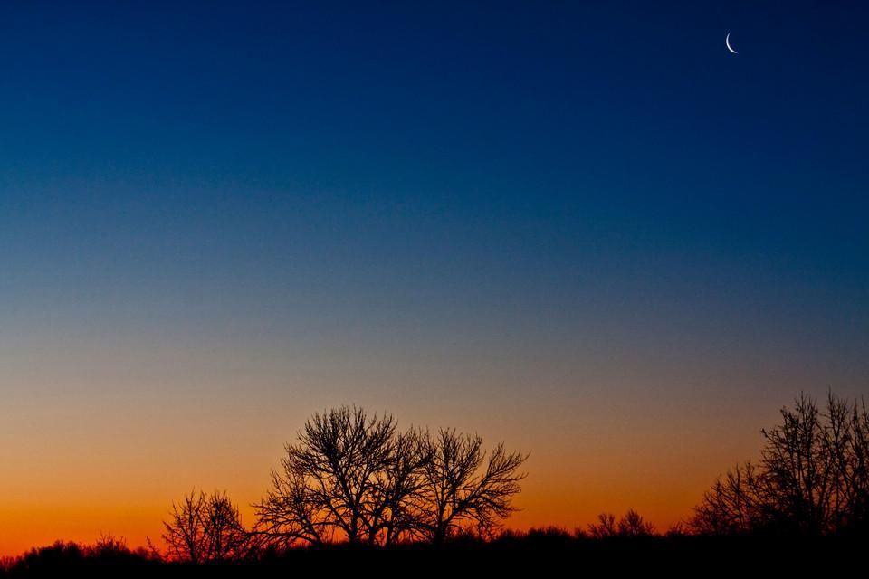 Blue orange colored landscape