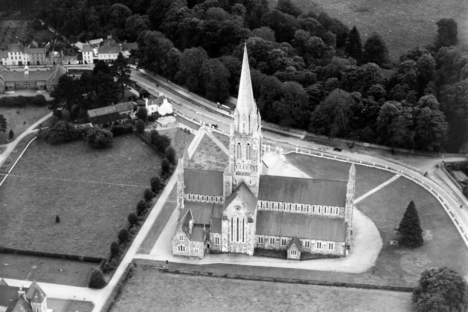 Photographed Cathedral in Killarney from above