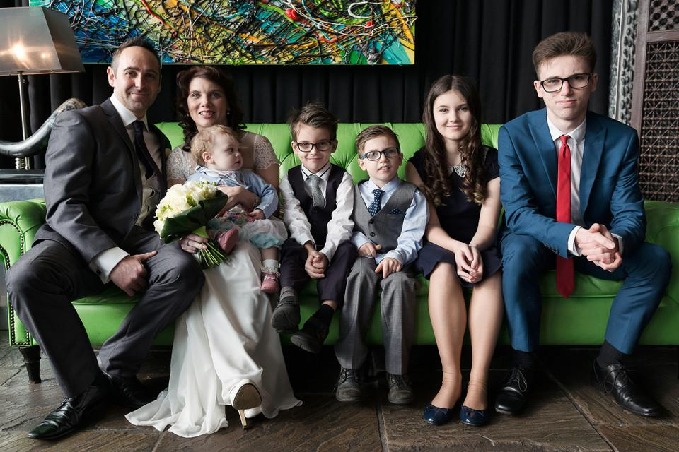 Couple and five kids