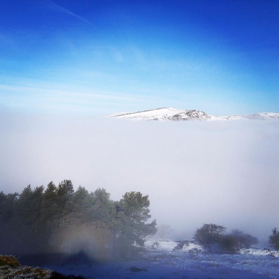 Blue sky above the cloud