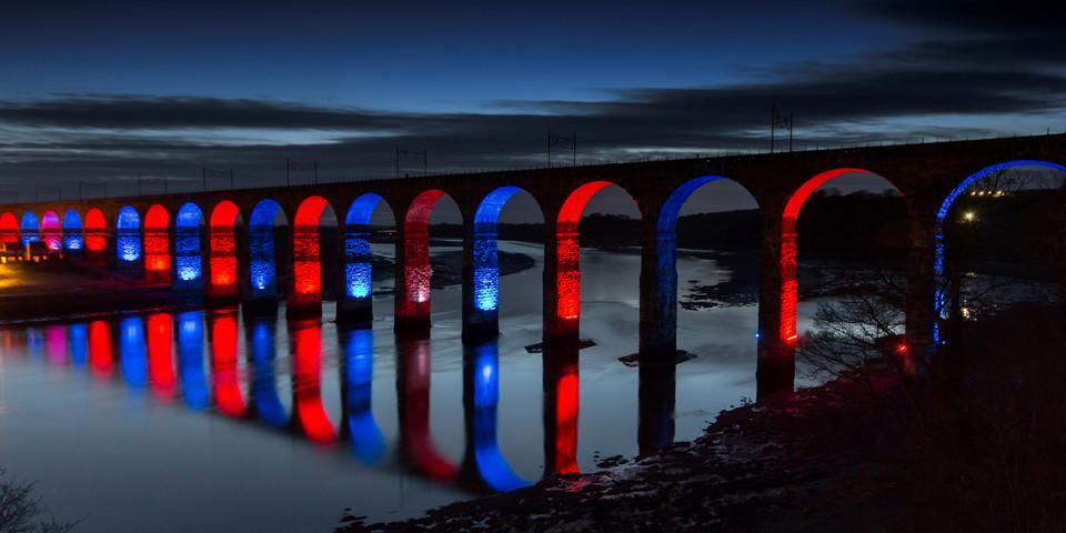 Illuminatd bridge