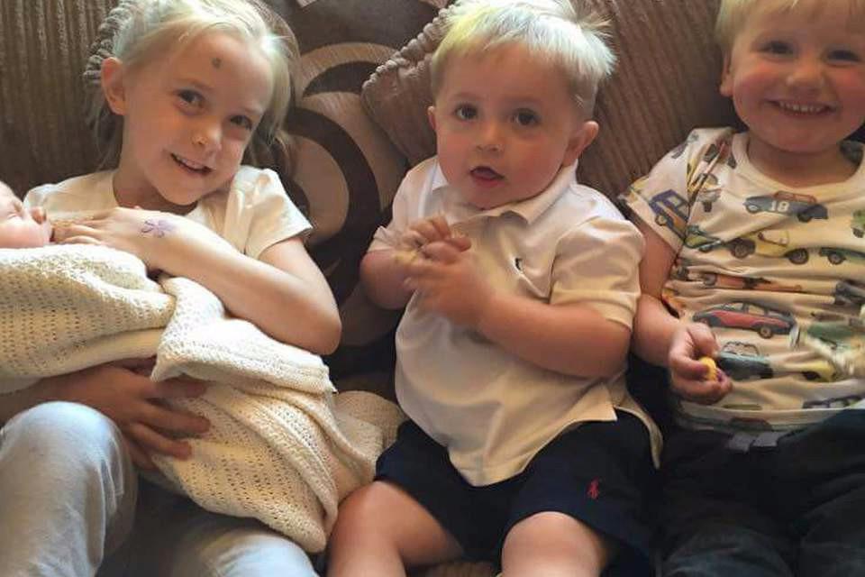 Four little kids
