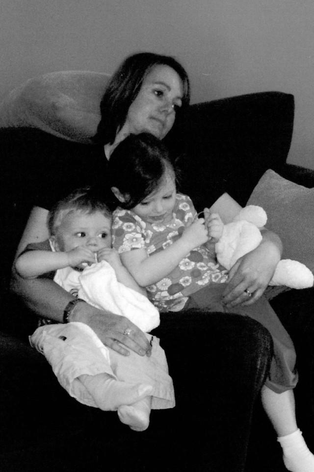 Woman with her neice and nephew
