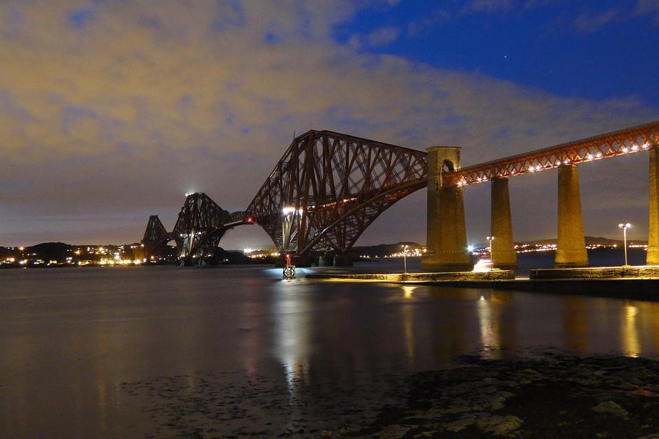 canvas, night, bridge