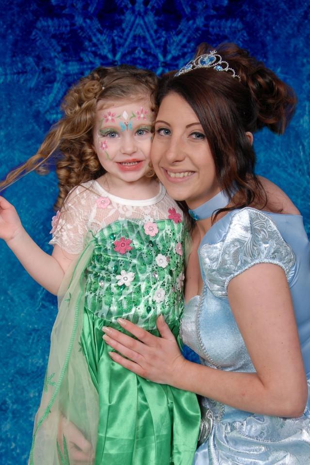 cute, mother, daughter, princesses