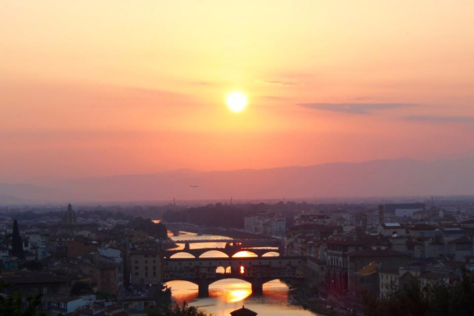 Florence, sunset, skyline, Italy