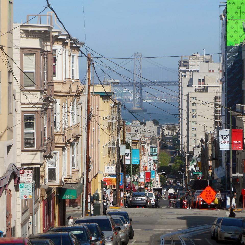 city, bustle, San Francisco, Golden Gate Bridge