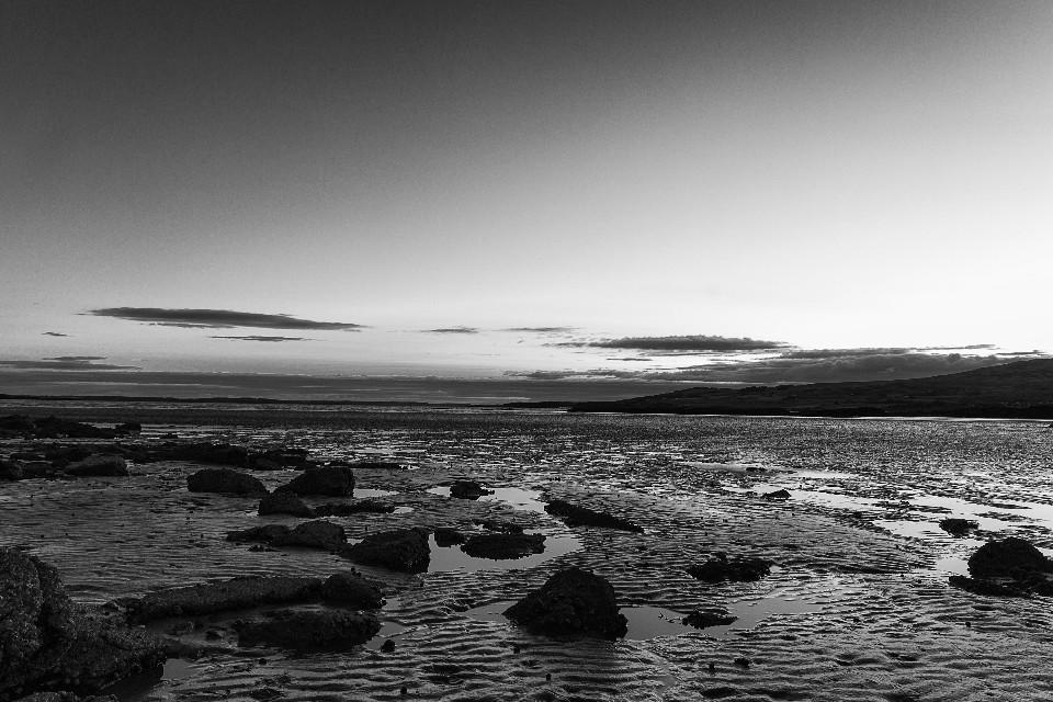 black and white, shoreline, coast, birthday