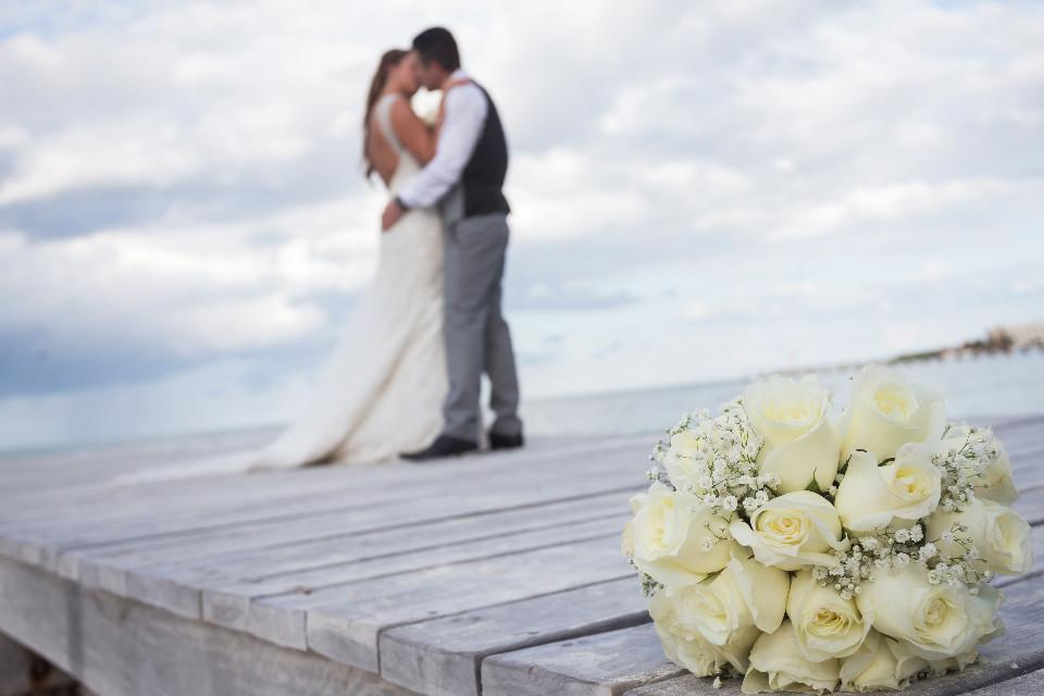 wedding, Mexico, flowers, coastline