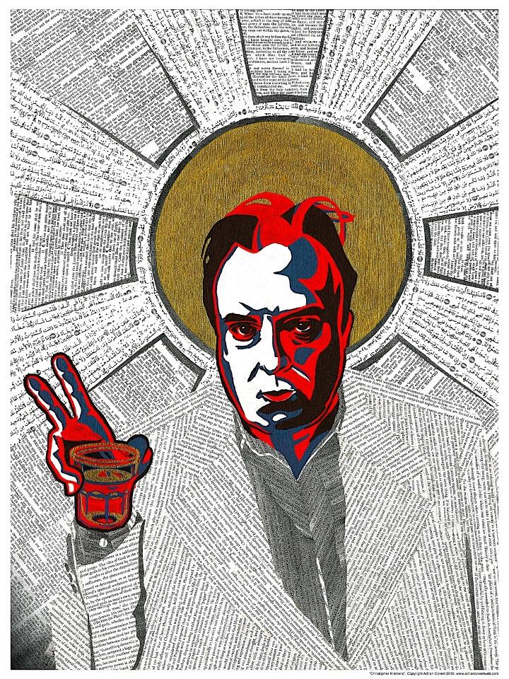 Christopher Hitchens, poster, pop art