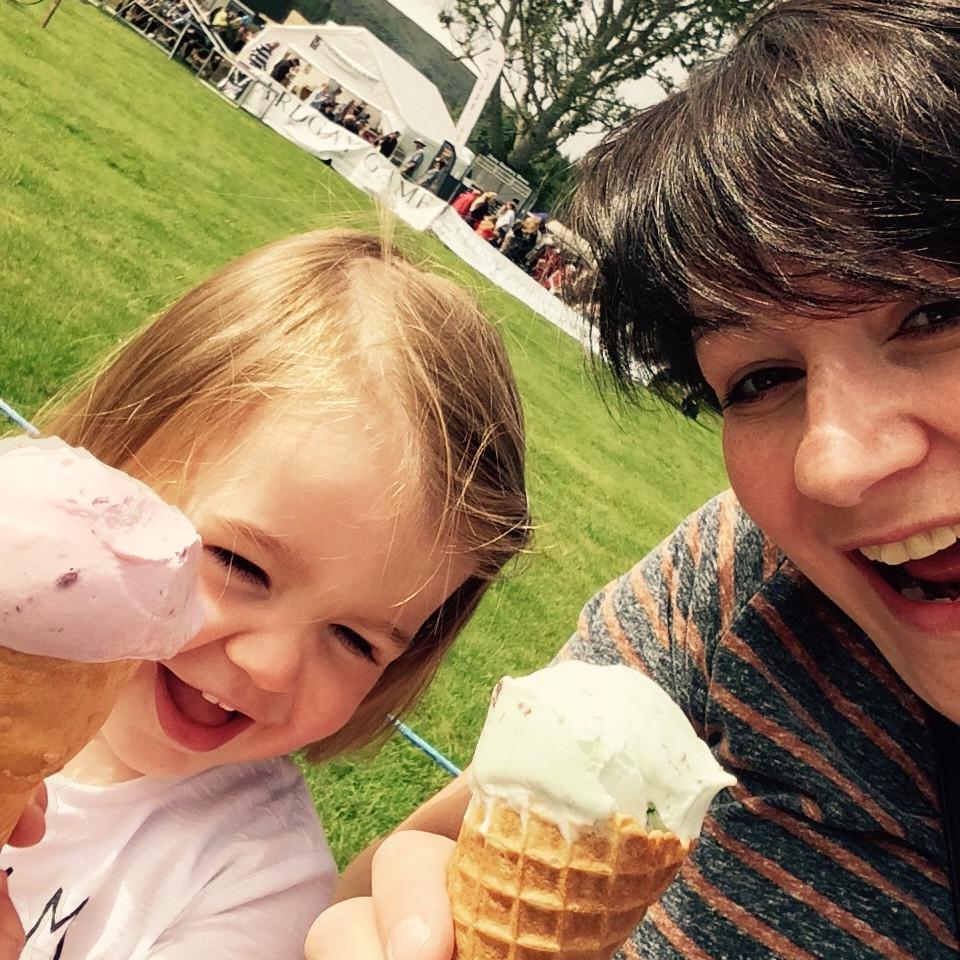Summer, Scotland, family time, ice cream