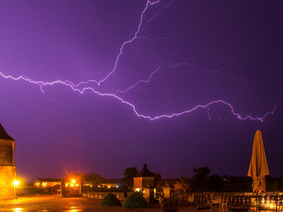 lightning, thunderstorm, france, wedding