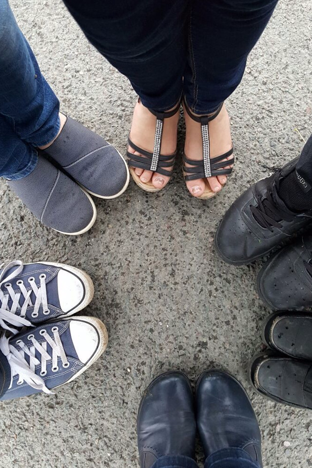 shoes, friends, circle of shoes, best friends forever