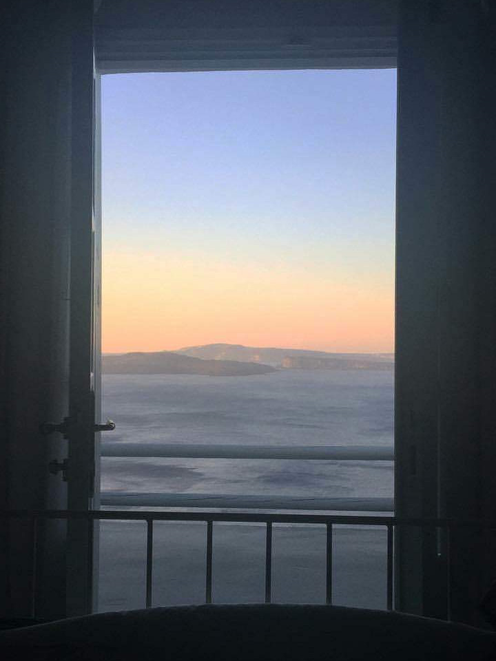 Greece, balcony, beautiful view, sun, myth