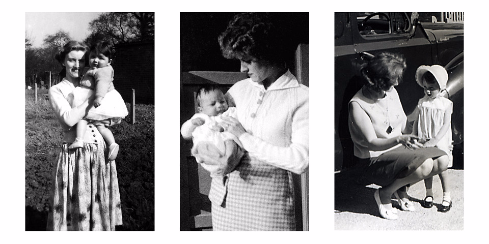 mother, black and white, memorial photos