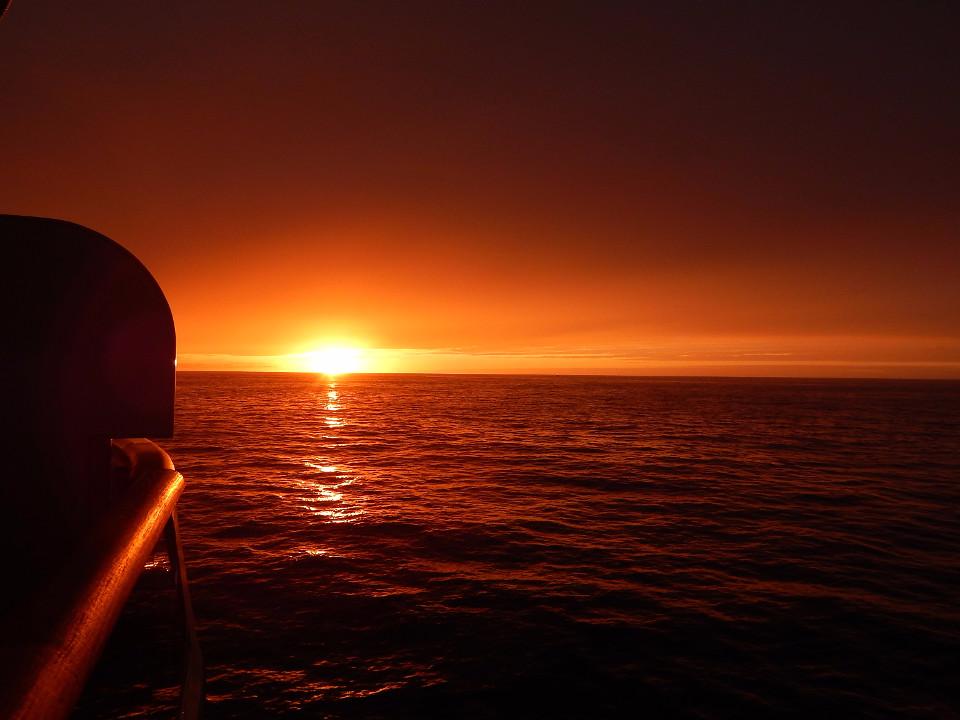 Sea, Reykjavik, sunset, dusk, boat