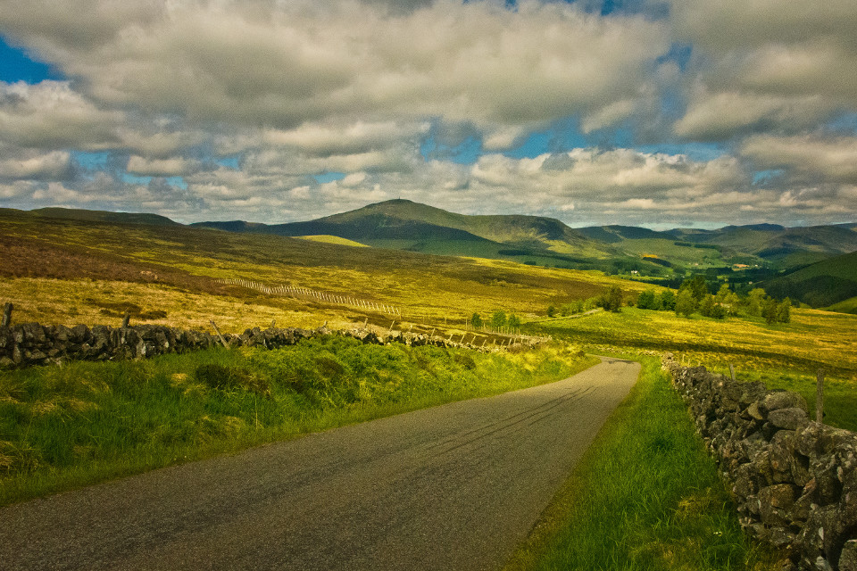 Landscape, mountains, beautiful sky, Angus Glens