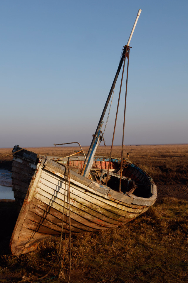 Lonely, boat, washed ashore, beautiful photo, photo subject