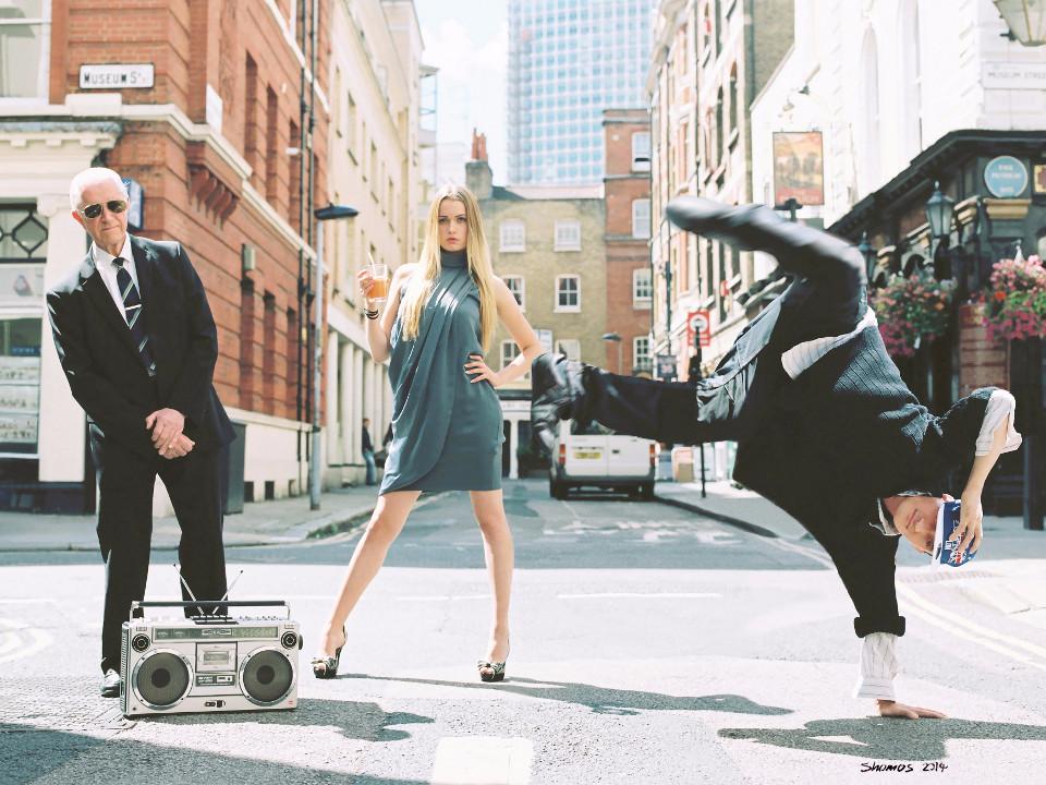 People, boombox, breakdance, sexy girl, city, tuxedo, generations