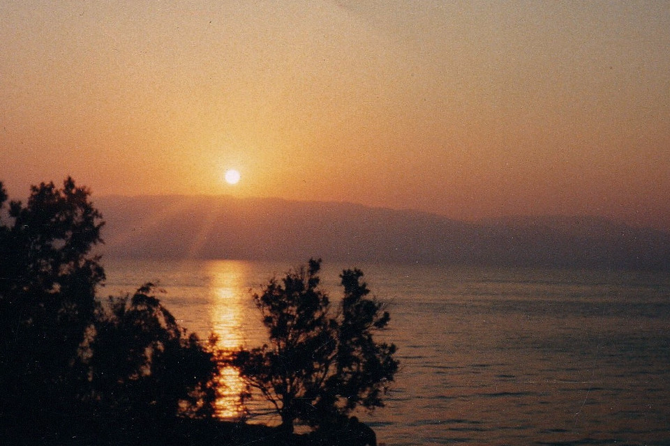 Sunset, sunrise, sea, Black Sea, analogue, camera, 1990, vintage