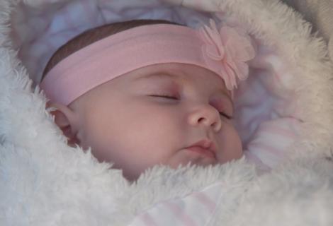 Princess granddaughter having a sweet dream