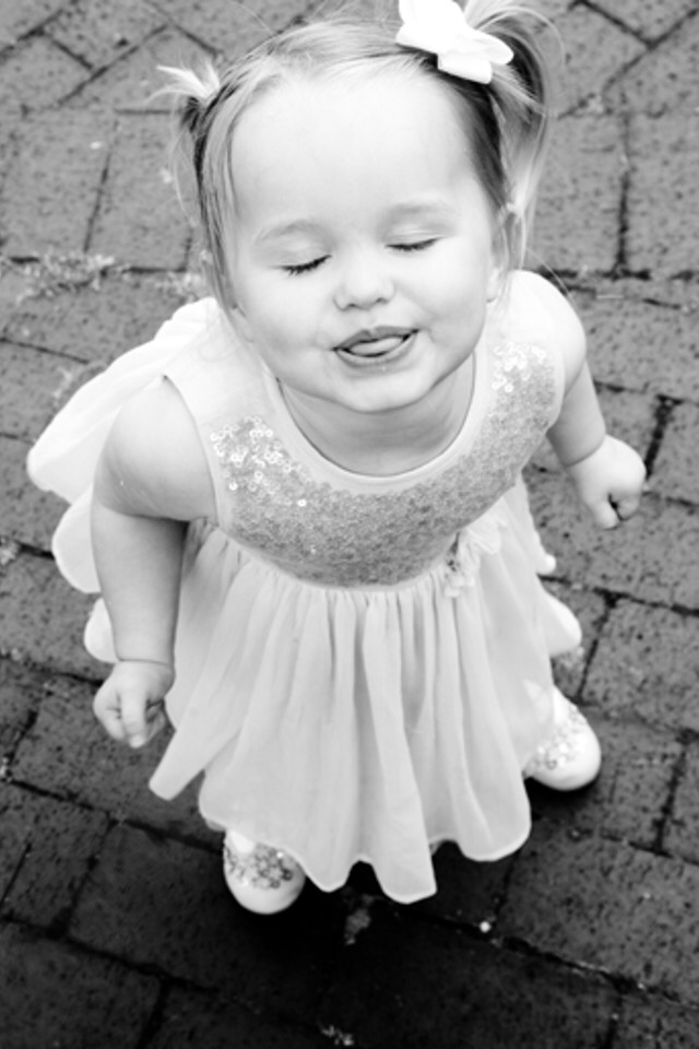 people, girl, little girl, niece, wedding, cute, funny, monochrome